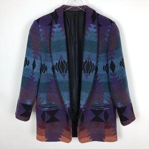 Jackets & Blazers - Vintage Aztec Southwestern Oversized Blazer Jacket